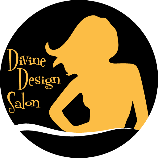 the circle format logo for Divine Design Salon of Santa Rosa